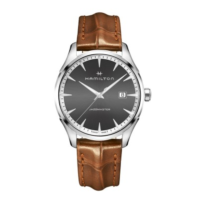 HAMILTON Jazzmaster H32451581  Men's watch with leather brown strap