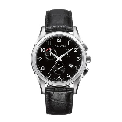 HAMILTON JAZZMASTER Thinline H38612733  Men's watch with leather black strap