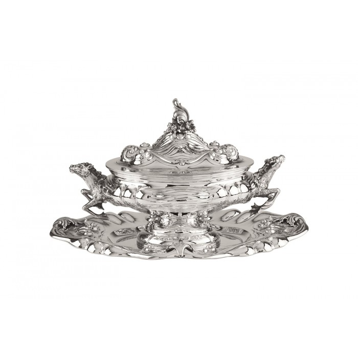 HORSE SOUP TUREEN WITH PLATE 121270