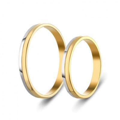 ΣΧ321 Wedding rings two coloured, yellow and white gold
