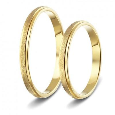 ΣΧ739 wedding rings gold