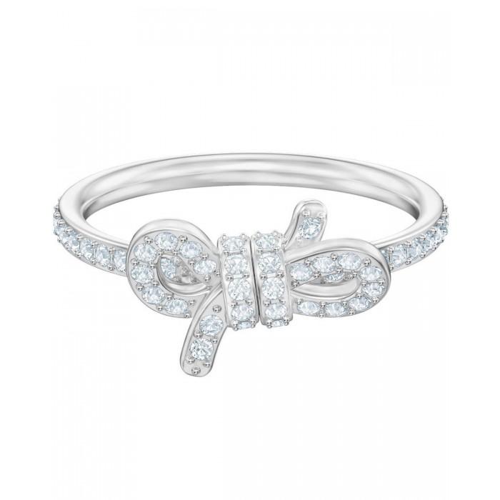 SWAROVSKI White Lifelong Small Bow Ring (No 58)