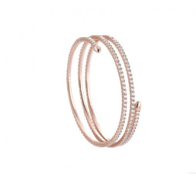 Tatiana Faberge 9Nine Bracelet 9B04R 18 k rose gold plated Silver bracelet  with natural zircons