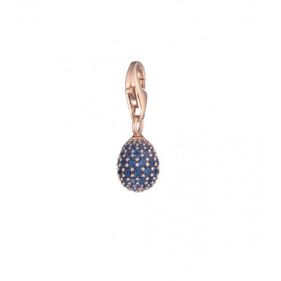 Tatiana Faberge 9Nine Charm 9P10R BL18 k rose gold plated Silver Charm with natural zircons